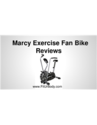 Marcy Exercise Fan Bike Reviews