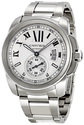 Cartier Men's W7100015 Calibre de Cartier Silver Opaline Dial Watch