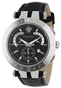 Versace Men's 23C99D008 S009 V-Race Chrono Black Dial Black Genuine Leather Strap Watch