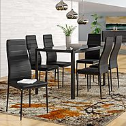 Orren Ellis Renick Modern 7 Piece Dining Set & Reviews | Wayfair