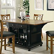Shop Coaster Fine Furniture 64-in L x 42-in W x 36-in H Black Craftsman Kitchen Islands at Lowes.com