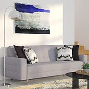 Wade Logan Spirit Lake Convertible Sleeper Sofa & Reviews | Wayfair