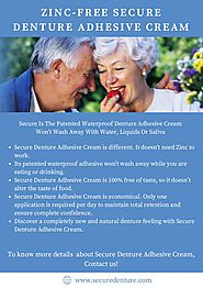 Affordable Secure Denture Adhesive Cream