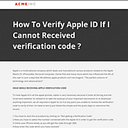 How To Verify Apple ID If I Cannot Received verification code ?