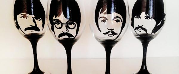 Headline for Beatles Wine Glasses and More