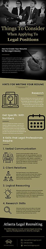 Things to Consider When Applying To Legal Positions