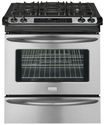 "Frigidaire FGGS3045K 30"" Slide-In Gas Range with Quick Preheat and True Convection, Stainless Steel"