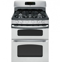 "GE JGB870SETSS 30"" Stainless Steel Gas Sealed Burner Double Oven Range - Convection"