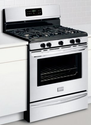 "Gallery Series 30"" Freestanding Gas Range with 5 Cu. Ft. Quick-Bake Convection Oven Color: Stainless Steel"