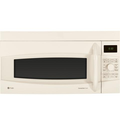 Profile 1.7 cu. ft. Capacity Over-the-Range Convection Microwave Easy-set Control Dial Auto Recipe Conversion in Biscuit