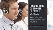 Quickbooks Support Canada — Questions Put by Quickbooks and Their Solutions