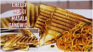 Cheesy Maggi Masala Grilled Sandwich Recipe | Kids Favourite Lunch Box Recipe | Kanak's Kitchen