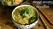 noodle soup recipe | maggi soupy noodle recipe | how to make maggi soup recipe