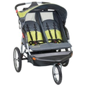 Baby Trend Expedition Swivel Double Jogger Baby Jogging Stroller - Carbon