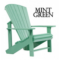 A lovely shade of green in an adirondack outdoor chair.