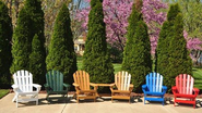 Multi Colored Recycled Plastic Adirondack Chairs