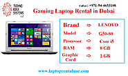 Gaming Laptop Rentals in Dubai