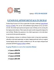 LENOVO Laptop Rentals in Dubai