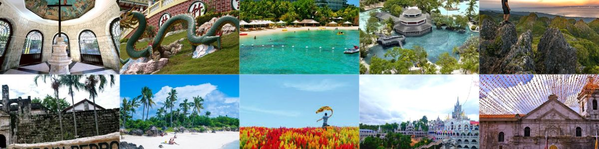Headline for 10 most visited places in Cebu