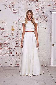 Classic White 2 piece gown