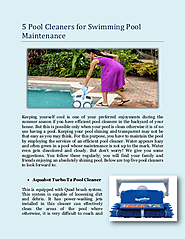 5 Pool Cleaners for Swimming Pool Maintenance