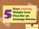 5 days juicing weight loss plan for an average person