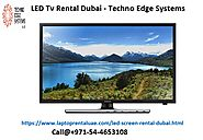 LED TV Rental Dubai - Techno Edge Systems