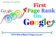 Exclusive SEO Offer for Website First Page Ranking on Google by White Hat SEO
