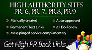Dofollow high PR and domain authority SEO backlinks