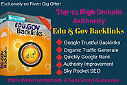 High authority edu-gov backlinks service for website first page ranking