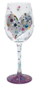 Amazon.com: Lolita Love My Wine Glass, Silver Lining: Kitchen & Dining