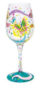 Amazon.com: Lolita Love My Wine Glass, Social Butterfly: Kitchen & Dining
