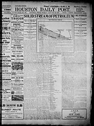 Primary - Color/Filler The Houston Daily Post (Houston, Tex.), Vol. XVIth YEAR, No. 284, Ed. 1, Sunday, January 13, 1...