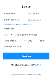 Yahoo Sign up Guide