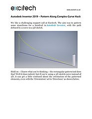 Autodesk Inventor 2019 – Pattern Along Complex Curve Hack