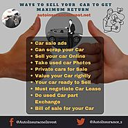 Ways to Sell your Car to get maximum Return | Auto Insurance Invest