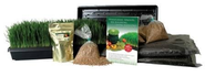 Certified Organic Wheatgrass Growing Kit - Grow & Juice Wheat Grass: Trays, Seed, Soil, Instructions, Wheatgrass Book...