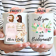 Bridesmaid Proposal Mug Will You Be My Bridesmaid Mug Proposal for Bridesmaid Bridesmaid Gift Personalized Bridesmaid...