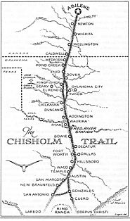 Map of the Chisolm Trail