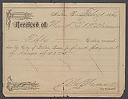 [Property tax receipt for Lizzie Williams] - Page 1 of 2 - The Portal to Texas History