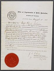 [Teaching certificate for Lizzie Johnson, dated August 4, 1871] - The Portal to Texas History