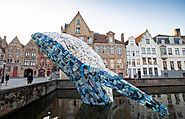 Giant Whale against Ocean's Pollution in Bruges – Fubiz Media