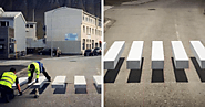 Town in Iceland Paints 3D Zebra Crosswalk To Slow Down Speeding Cars | Bored Panda