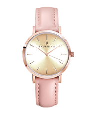 ROSE GOLD CASE, GOLD SUNRAY DIAL - BAUERING