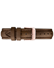 Genuine Leather Strap - Brown - BAUERING