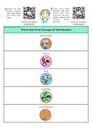 Animals Classification - Vertebrates Classification Activity - with FREE AUDIO