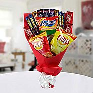 Buy / Send High on Snack Bouquet Gifts online Same Day & Midnight Delivery across India @ Best Price | OyeGifts