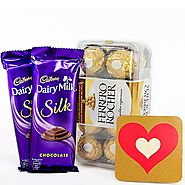 Buy/Send CONTEMPORARY CHOCO HAMPER - YuvaFlowers