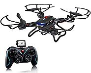 Holy Stone F181C RC Quadcopter Drone with HD Camera RTF 4 Channel 2.4GHz 6-Gyro with Altitude Hold Function,Headless ...