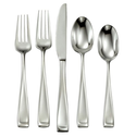 Oneida Moda 65-Piece Flatware Set, Service for 12
